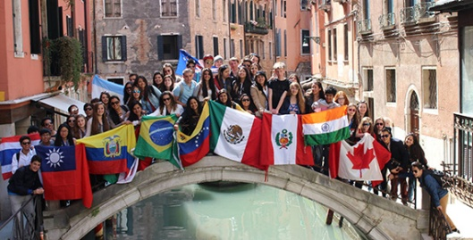 Youth Exchange students in Europe.