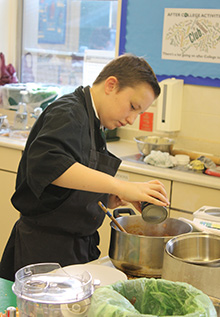 The Rotary Club of Plympton hosted a Young Chef competition as a new event during Hands' year as president.